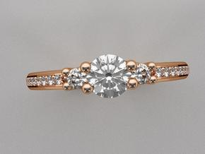 Past, Present, Future Engagement Ring in 14K Gold