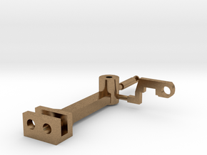 Functional Tomlinson Coupler in Raw Brass