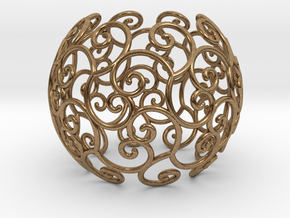 Triskel celtic sphere 1 (2,8) in Raw Brass