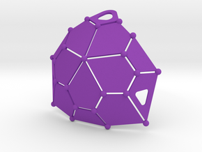 Bikini Plate (Polyhedron Cup Shape) in Purple Strong & Flexible Polished