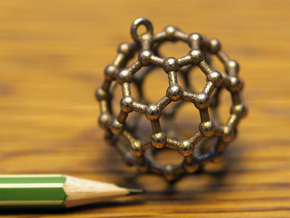 BuckyBall C60 Pendant Metal ~ 3cm in Stainless Steel