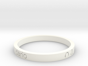 BRACCIALETTO Dario in White Strong & Flexible Polished