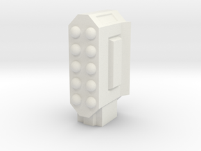 Missile Pod - Rectangular Vertical in White Strong & Flexible