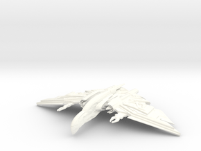 Praetor Class Destroyer in White Strong & Flexible Polished