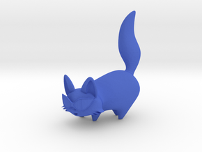 Cartoon Cat in Blue Strong & Flexible Polished