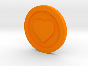 Love Coin in Orange Strong & Flexible Polished
