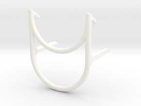Basic Tablet Stand in White Strong & Flexible Polished