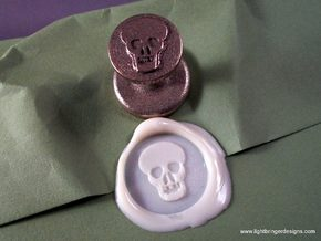 Skull Wax Seal in Stainless Steel