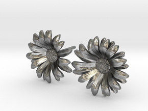 Daisy Studs in Raw Silver