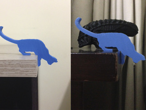 Desk Cat in Blue Strong & Flexible Polished