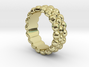 Chocolat Ring 32 - Italian Size 32 in 18k Gold Plated