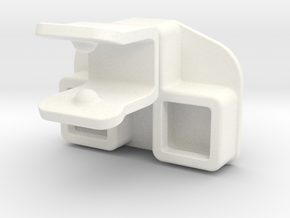 tow coupling for Playmobil car in White Strong & Flexible Polished