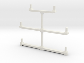 Well Car Rack (5-Unit) in White Strong & Flexible