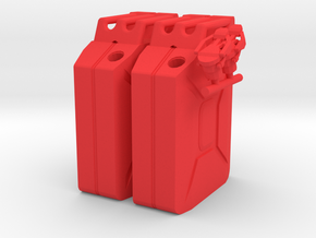 NATO 20L Jerry Can 1/10 Scale X2 in Red Strong & Flexible Polished