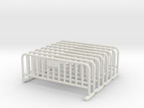 Barrier 01 (portable fence). Scale HO (1:87) in White Strong & Flexible