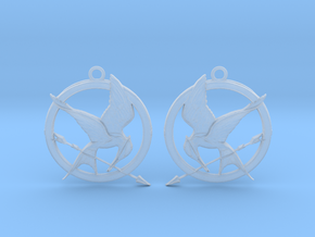 The Hunger Games Logo Earrings in Frosted Ultra Detail