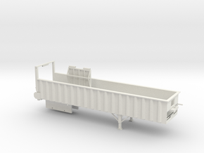 1/64 38' Silage Trailer in White Strong & Flexible