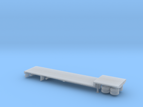1/160 48' Dropdeck Flatbed Semi Trailer in Frosted Ultra Detail