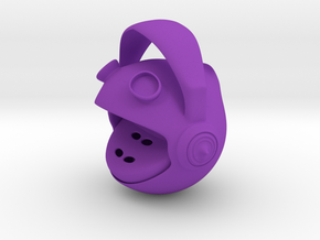 Frog whistle  in Purple Strong & Flexible Polished