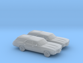 1/120 2X 1968-72 Oldsmobile Vista Cruiser in Frosted Ultra Detail