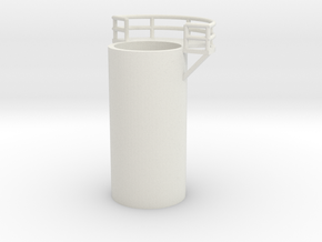 'N Scale' - 10' Distillation Tower - Middle-Left in White Strong & Flexible
