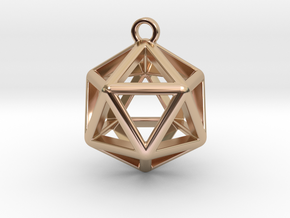 Icosahedron Pendant in 14k Rose Gold Plated