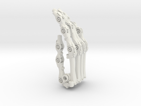 3DPrintHand 05 3D 07 Whole in White Strong & Flexible