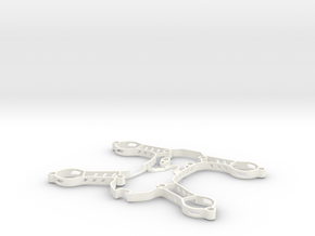 Sigan180 3D Print Parts in White Strong & Flexible Polished