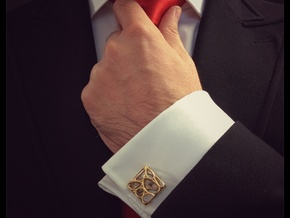 Organic Cufflinks in Polished Brass
