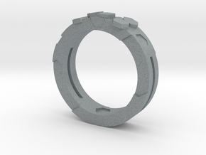 Ring Hex in Polished Metallic Plastic