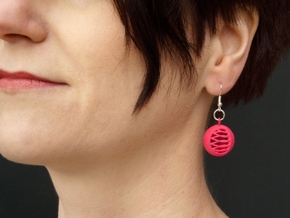 Quark Earrings - Basket (1x60Rv) in Pink Strong & Flexible Polished