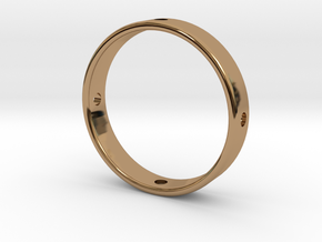 Gyroscope Ring, Middle in Polished Brass