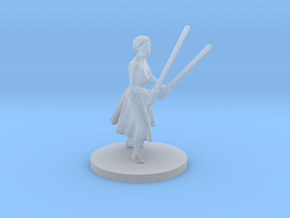 Irina with two lightsabers in Frosted Extreme Detail