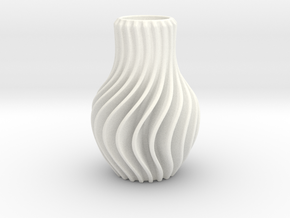 Vase-Porcelain in White Strong & Flexible Polished