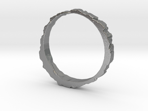 The Pine Ring 21 mm in Raw Silver