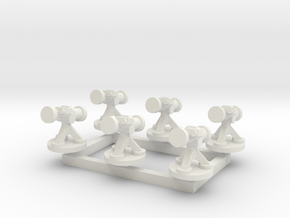 6mm Missile Launchers (x6) in White Strong & Flexible