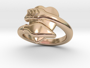 Cupido Ring 30 - Italian Size 30 in 14k Rose Gold Plated