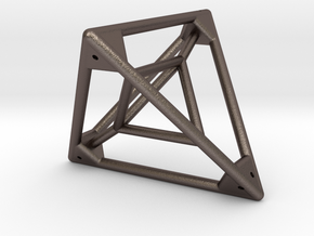 Tetrahedron with Tetrahedron inside in Stainless Steel