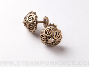 Steampunk Gear Cufflinks in Stainless Steel