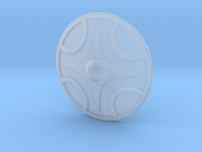 Miniature Shield 1 in Frosted Extreme Detail