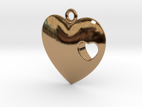 Heart in Polished Brass