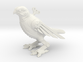 Horus Steampunk Falcon in White Strong & Flexible
