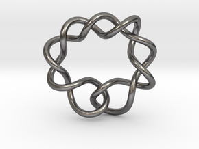 0366 Hyperbolic Knot K6.1 in Polished Nickel Steel