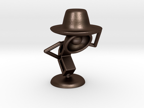 "Lala , ""Am i looking good in hat?"" - Desktoys in Matte Bronze Steel"