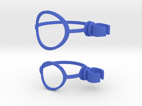 Shave cream can clip compatible with Harry's Razor in Blue Strong & Flexible Polished
