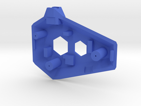 Ruby Enclosure Front - Part 1/2 in Blue Strong & Flexible Polished