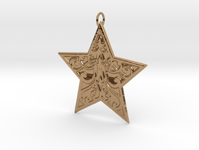 Christmas Star Ornament in Polished Brass
