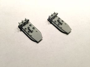 Zubr-Class LCAC x 2, 1/1800 in White Strong & Flexible