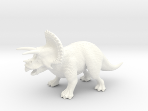 Triceratops in White Strong & Flexible Polished