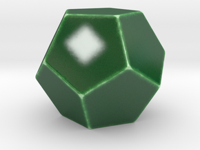 Dodecahedron Plain in Gloss Oribe Green Porcelain